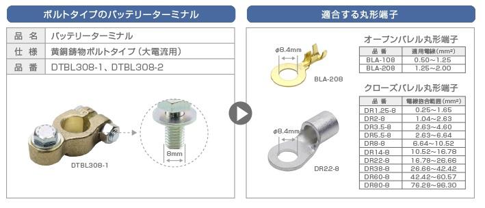 DTBL308と丸形端子